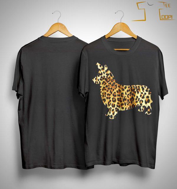Leopard Print Corgi Shirt