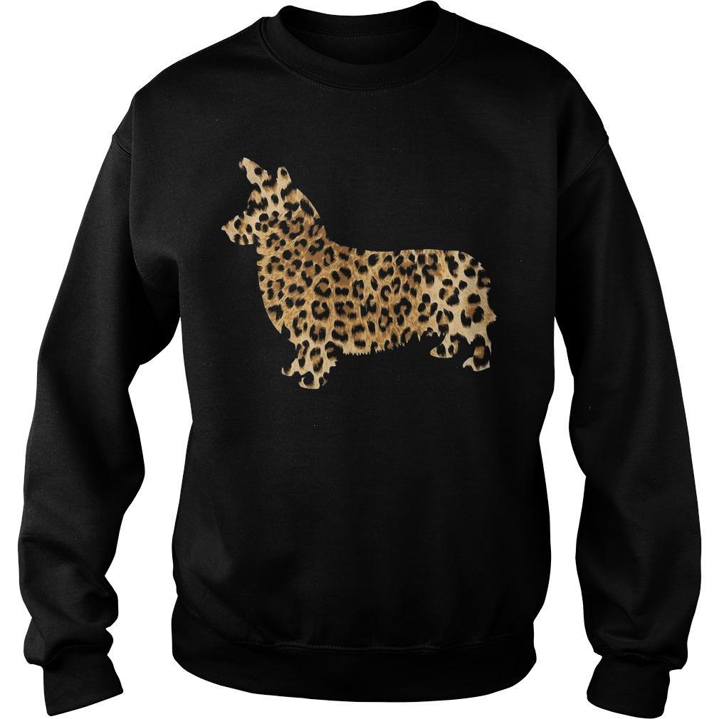 Leopard Print Corgi Sweater