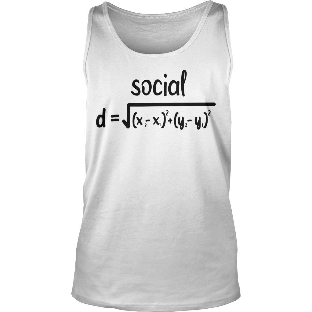 Math Formula Social Distance Tank Top