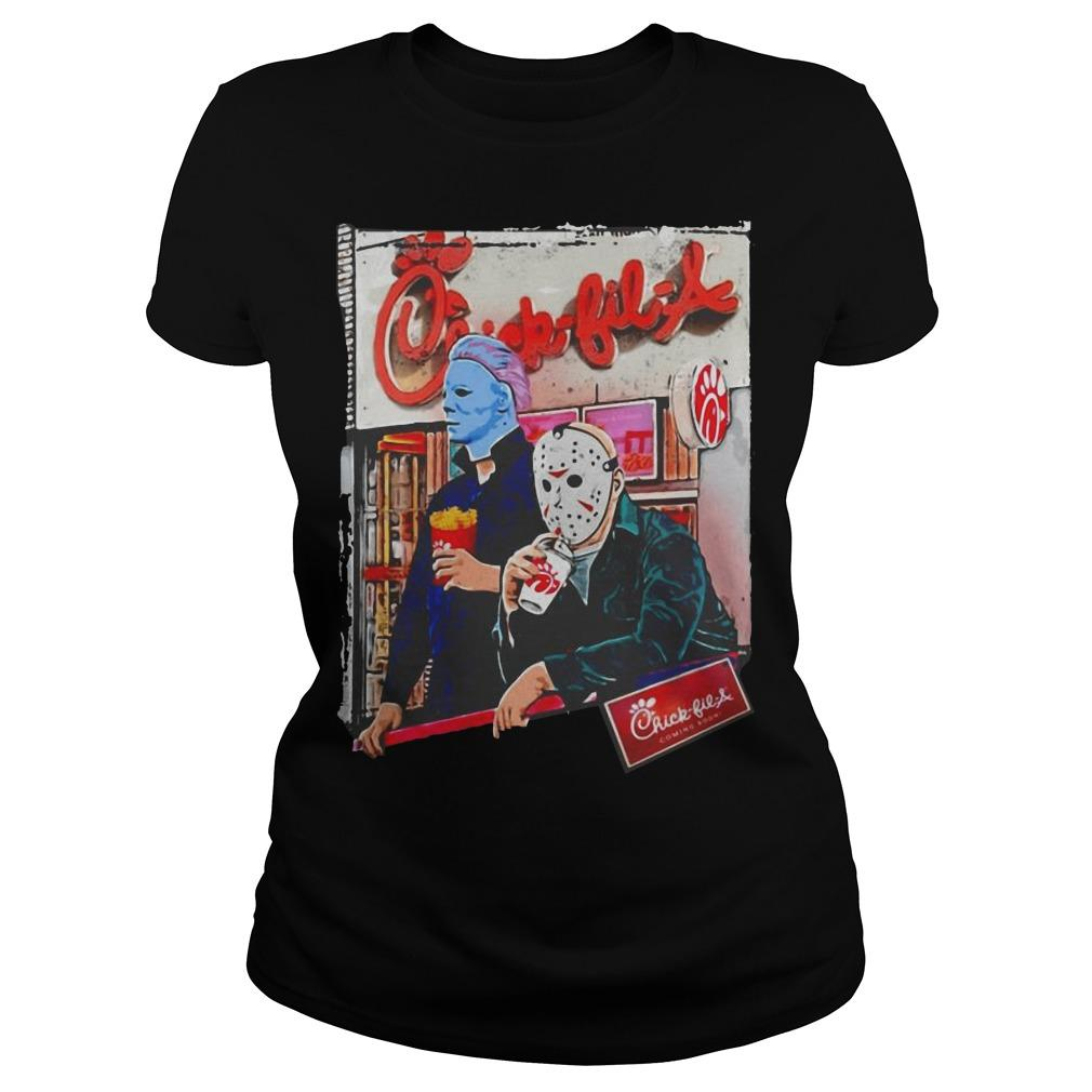 Michael Myers And Jason Voorhees Chick Fil A Longsleeve