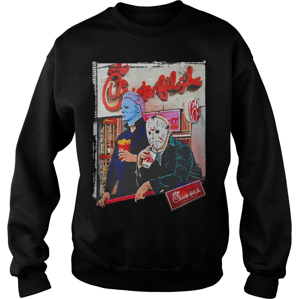 Michael Myers And Jason Voorhees Chick Fil A Sweater