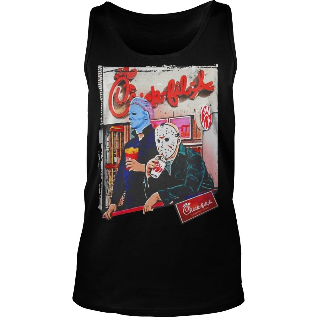 Michael Myers And Jason Voorhees Chick Fil A Tank Top