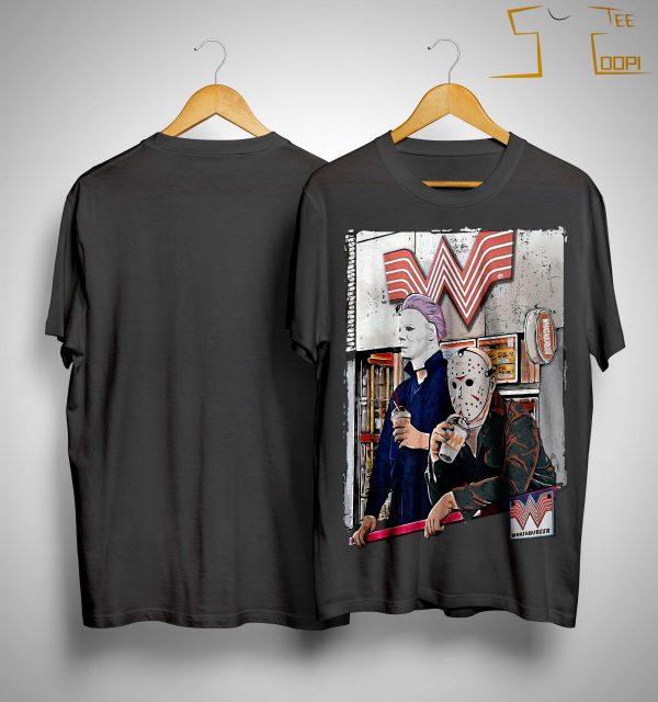 Michael Myers And Jason Voorhees Whataburger Shirt