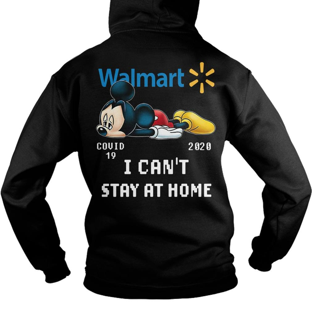 Mickey Mouse Walmart Covid 19 2020 I Can't Stay At Home Hoodie