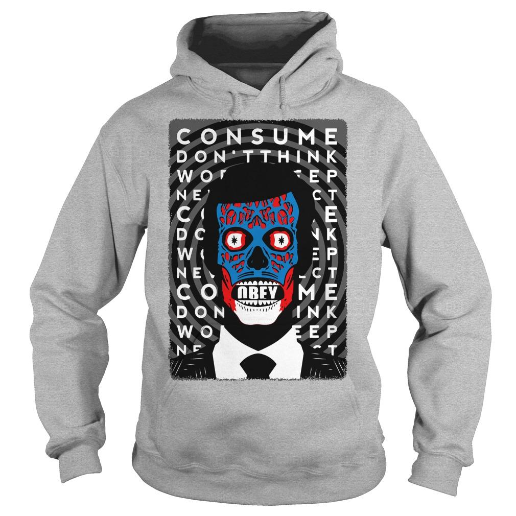 Obey Consume Don't Think Hoodie