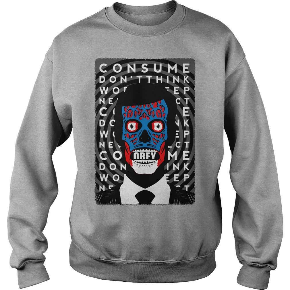 Obey Consume Don't Think Sweater