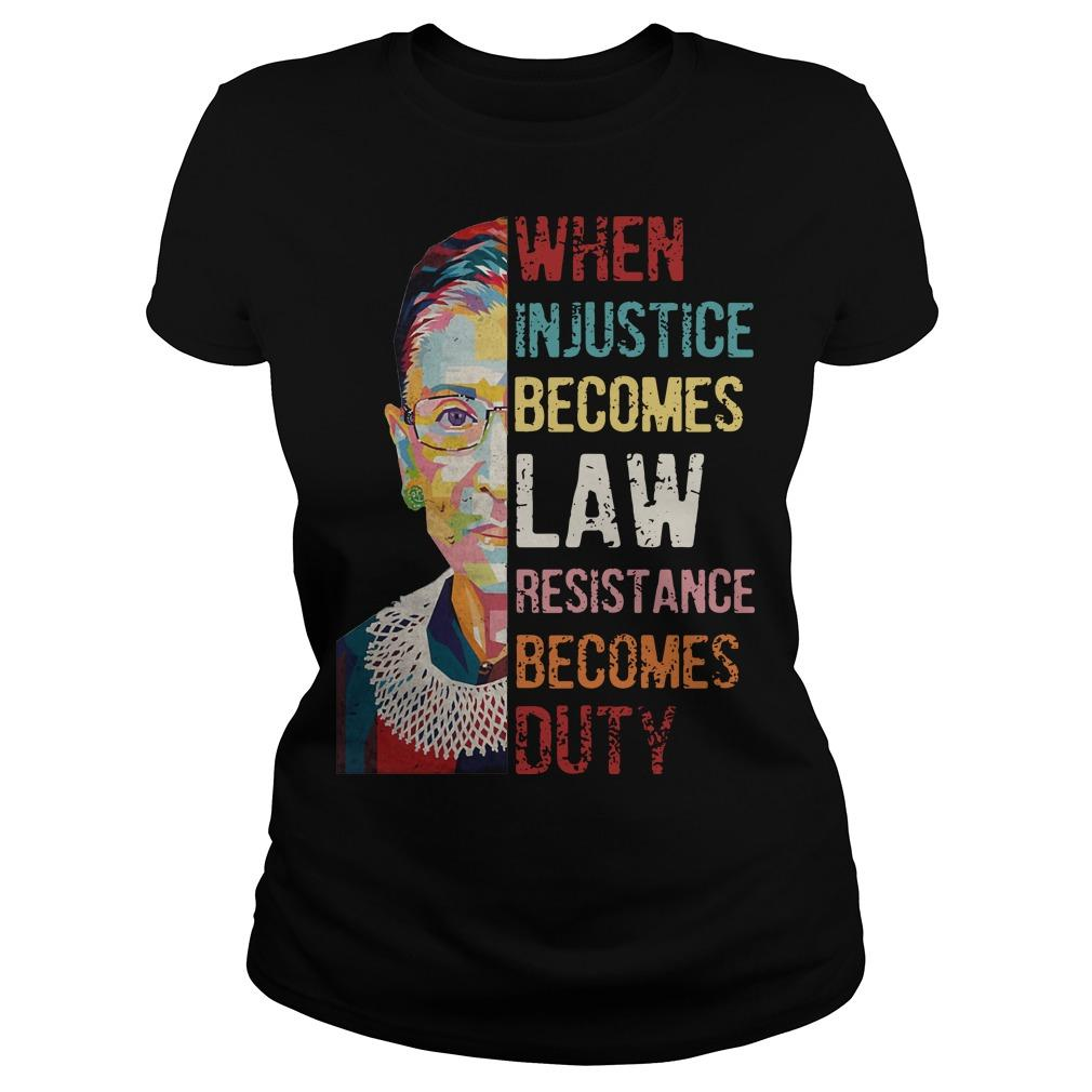 RBG When Injustice Becomes Law Resistance Becomes Duty Longsleeve