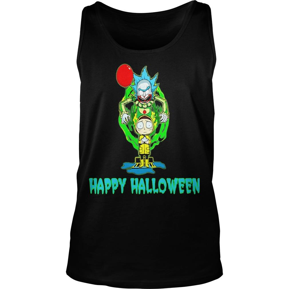 Rick And Morty It Happy Halloween Tank Top