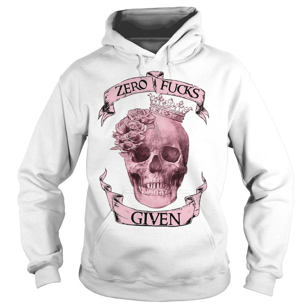 Skull Girl Zero Fuck Given Hoodie