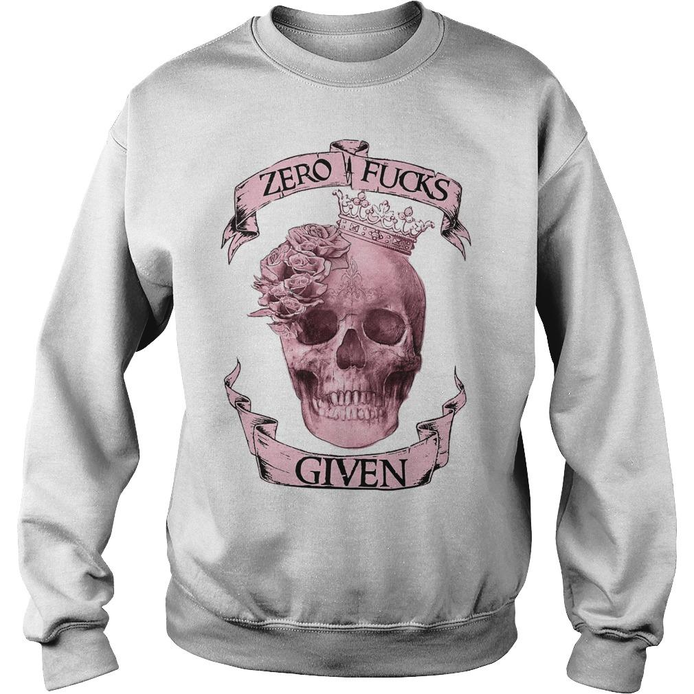 Skull Girl Zero Fuck Given Sweater