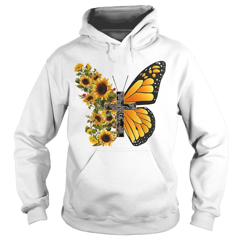 Sunflower Butterfly Faith Hoodie