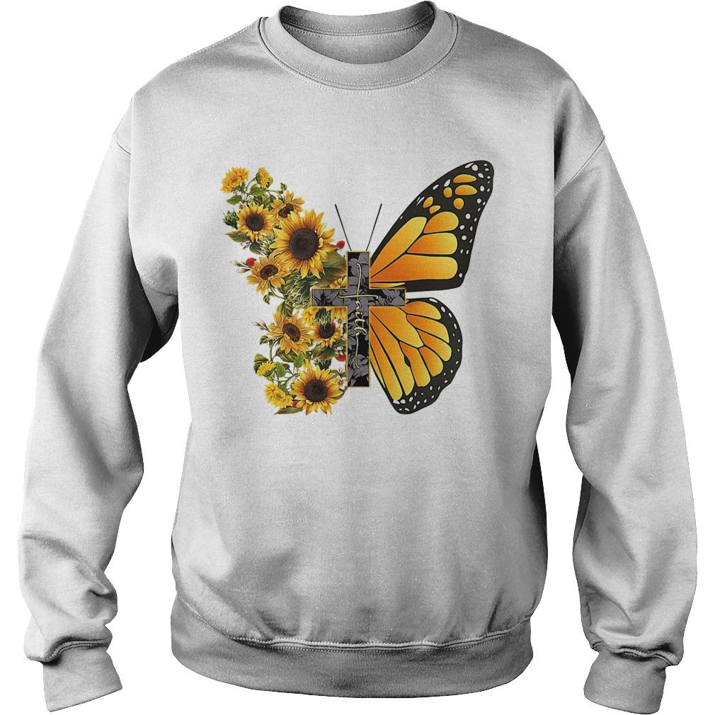 Sunflower Butterfly Faith Sweater