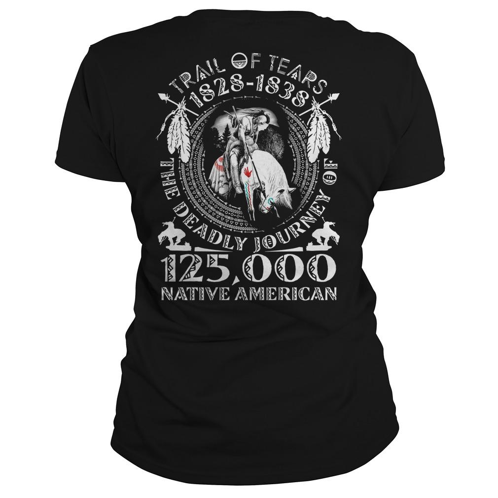 Trail Of Tears 1828 1838 The Deadly Journey Of 125000 Native American Longsleeve