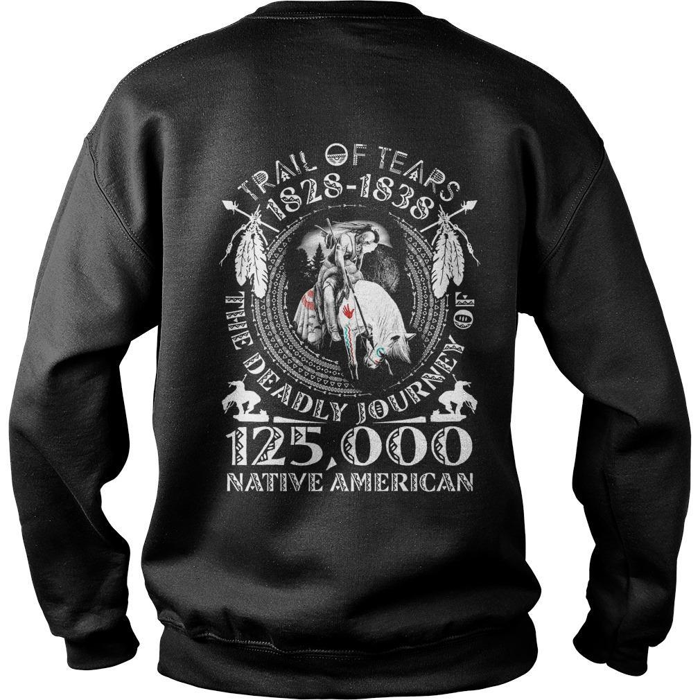 Trail Of Tears 1828 1838 The Deadly Journey Of 125000 Native American Sweater