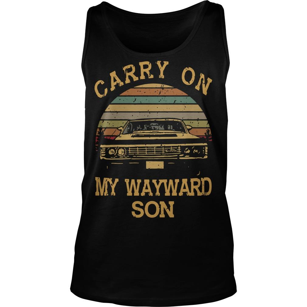 Vintage Carry On My Wayward Son Tank Top