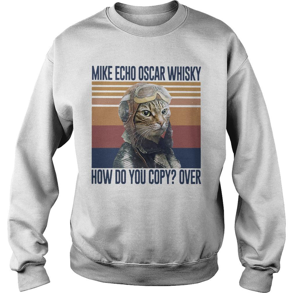 Vintage Cat Mike Echo Oscar Whisky How Do You Copy Over Sweater