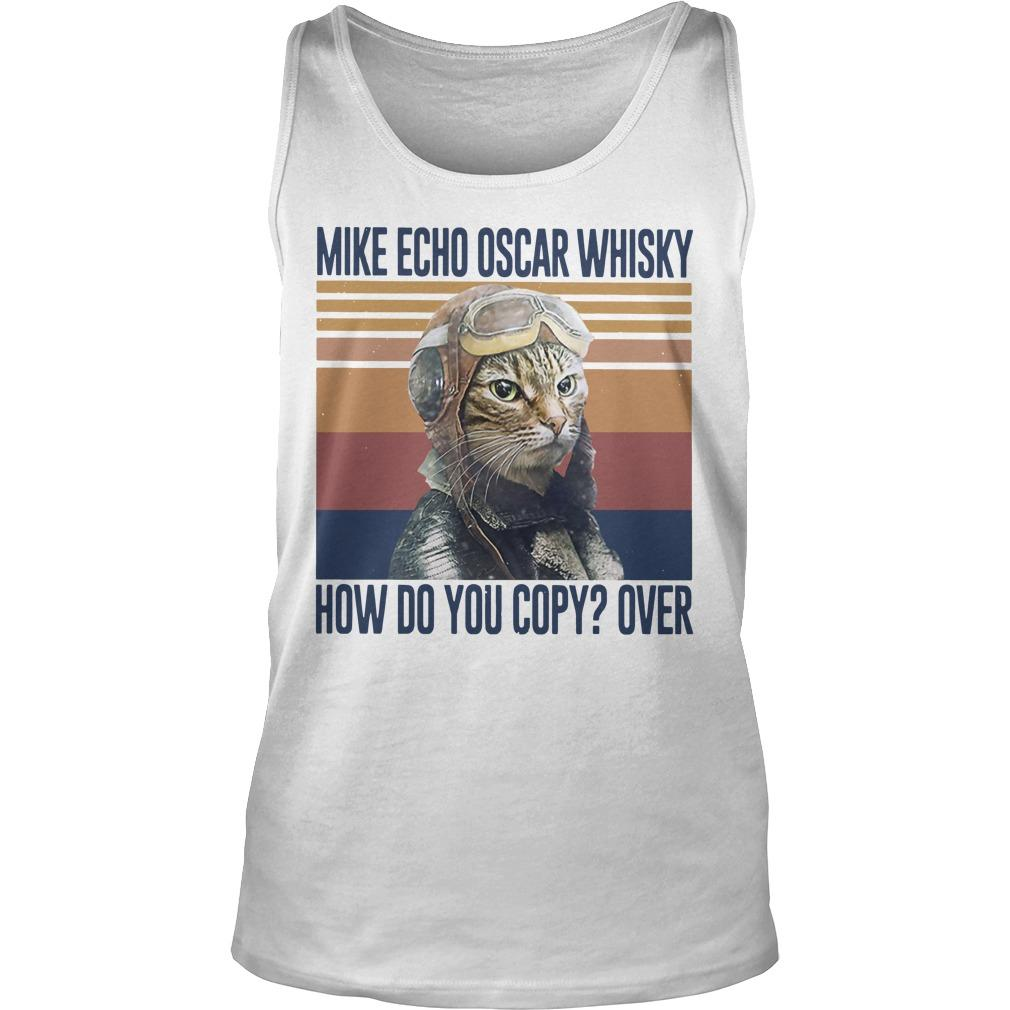 Vintage Cat Mike Echo Oscar Whisky How Do You Copy Over Tank Top