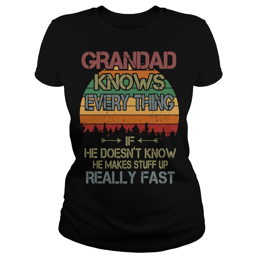 Vintage Grandad Knows Everything If He Doesn't Know Longsleeve