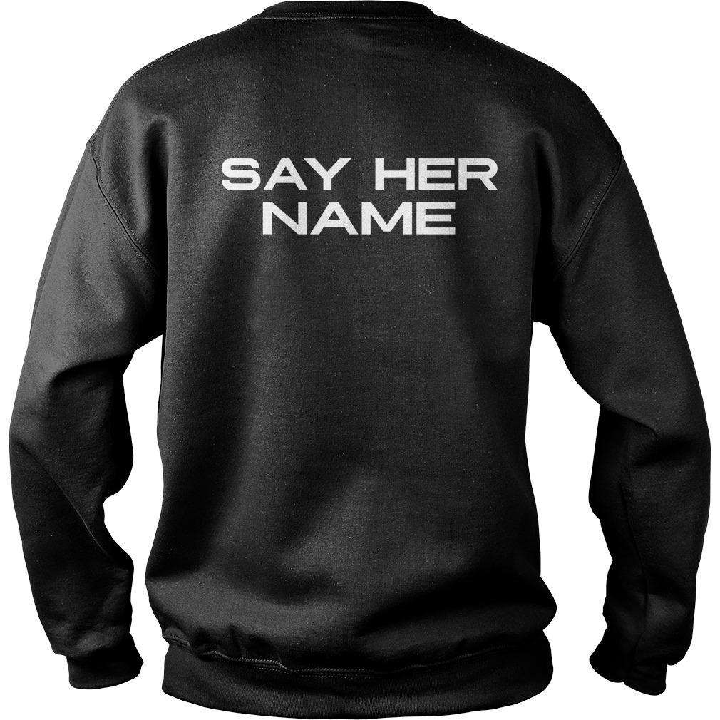 WNBA Players Say Her Name Sweater