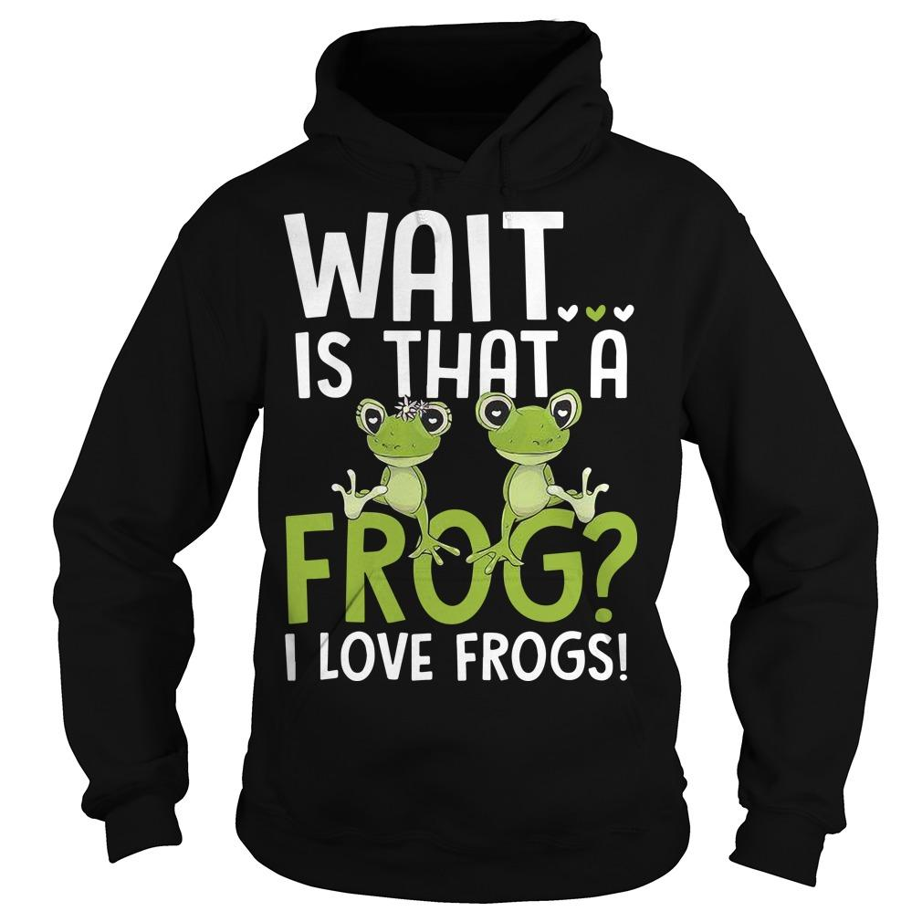 Wait Is That A Frog I Love Frogs Hoodie