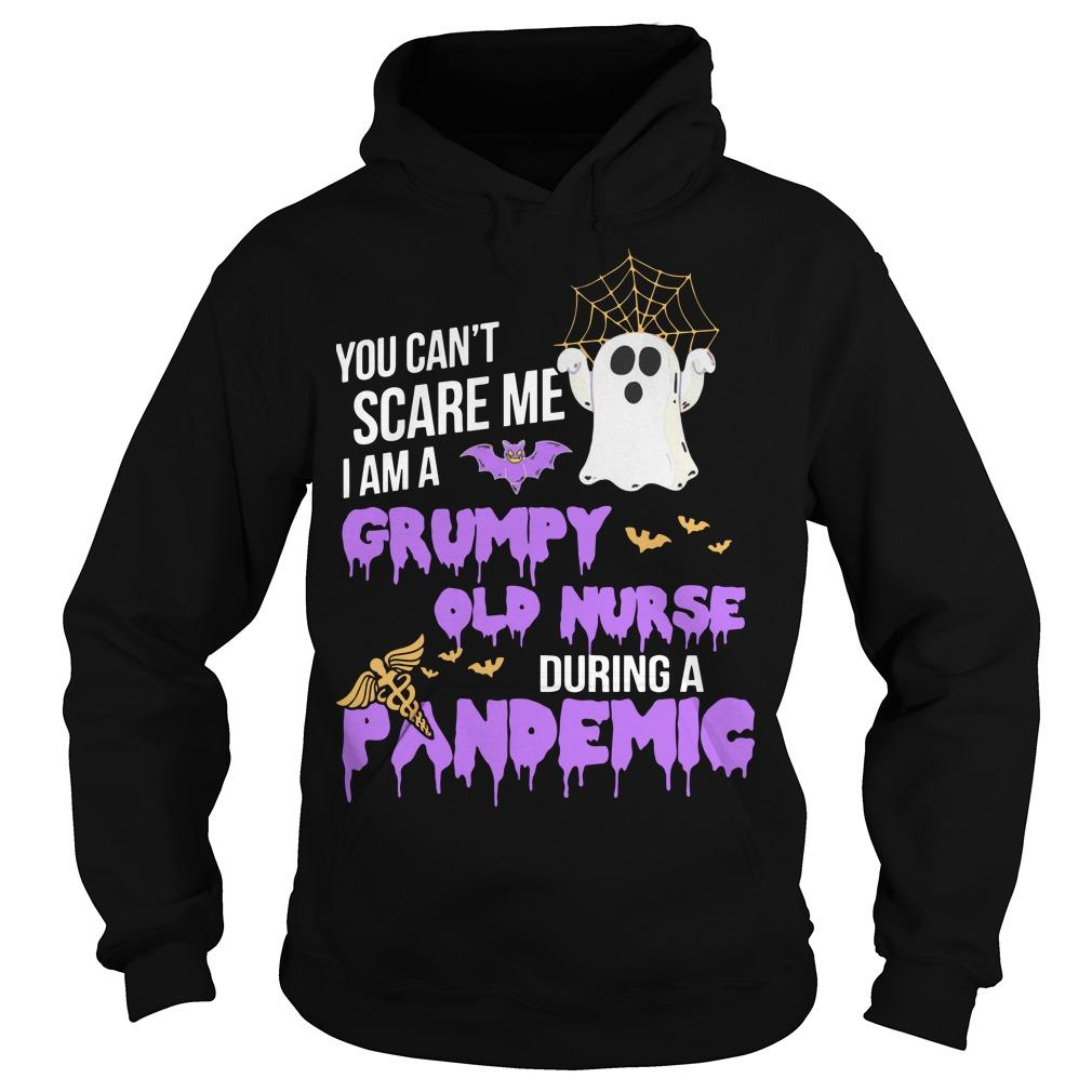 You Can't Scare Me I Am A Grumpy Old Nurse During A Pandemic Hoodie
