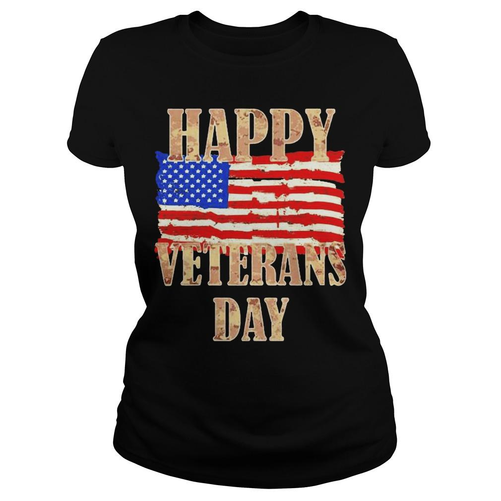 American Flag Happy Veterans Day Longsleeve