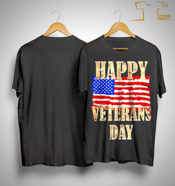 American Flag Happy Veterans Day Shirt