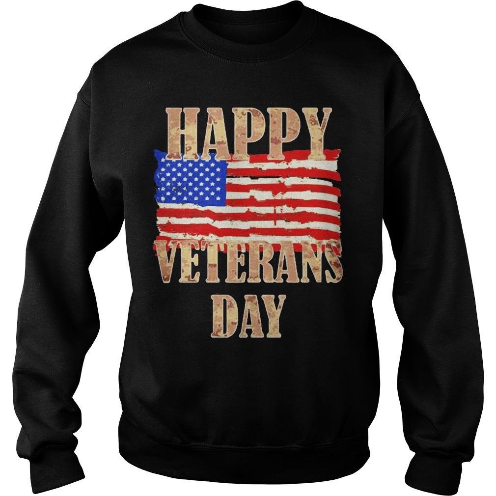 American Flag Happy Veterans Day Sweater
