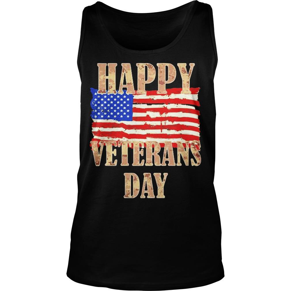 American Flag Happy Veterans Day Tank Top