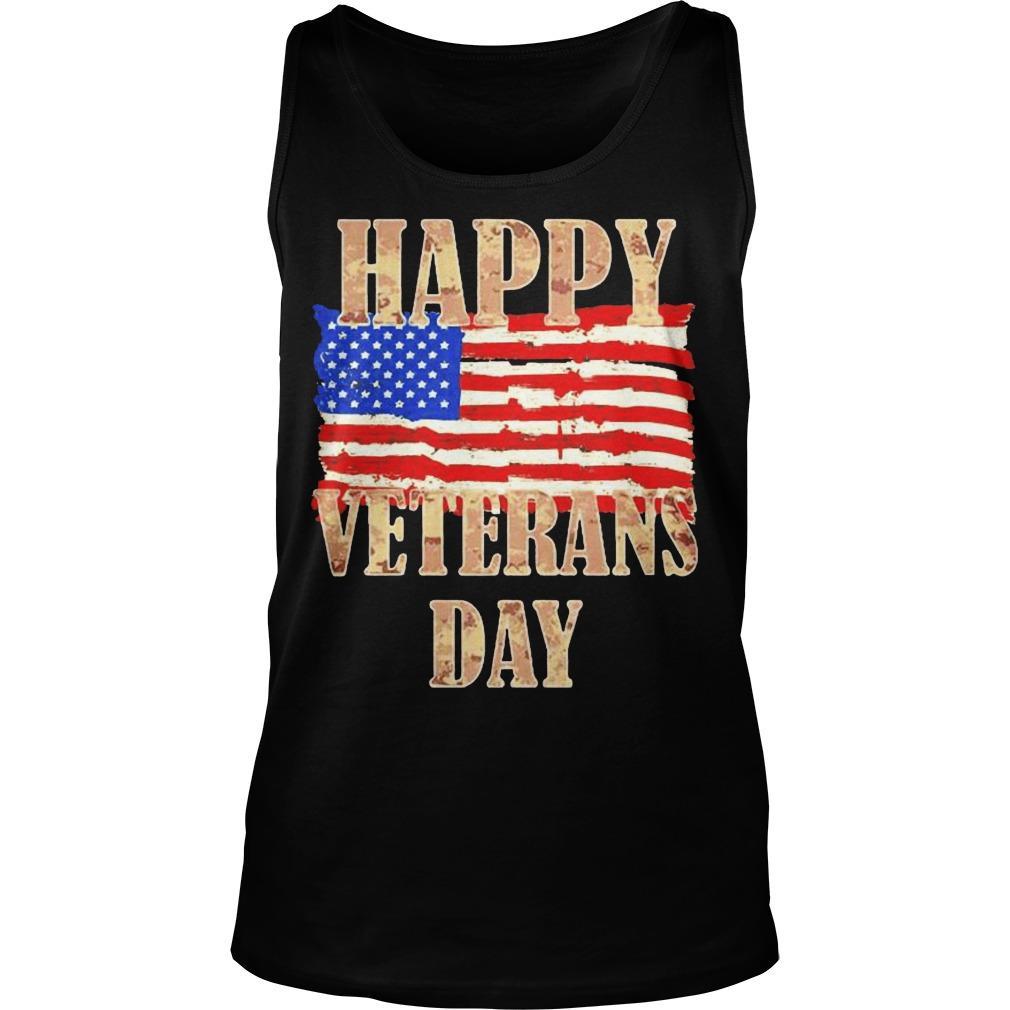 American Flag Happy Veterans Day Tank Top
