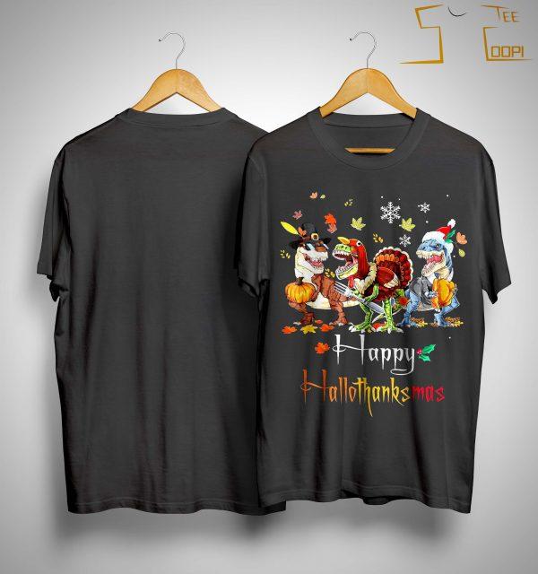 Costume Dinosaur Happy Hallothanksmas Shirt