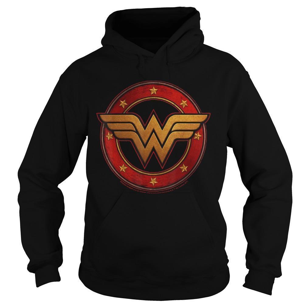 Dc Fandom Metal Logo Wonder Woman T Hoodie