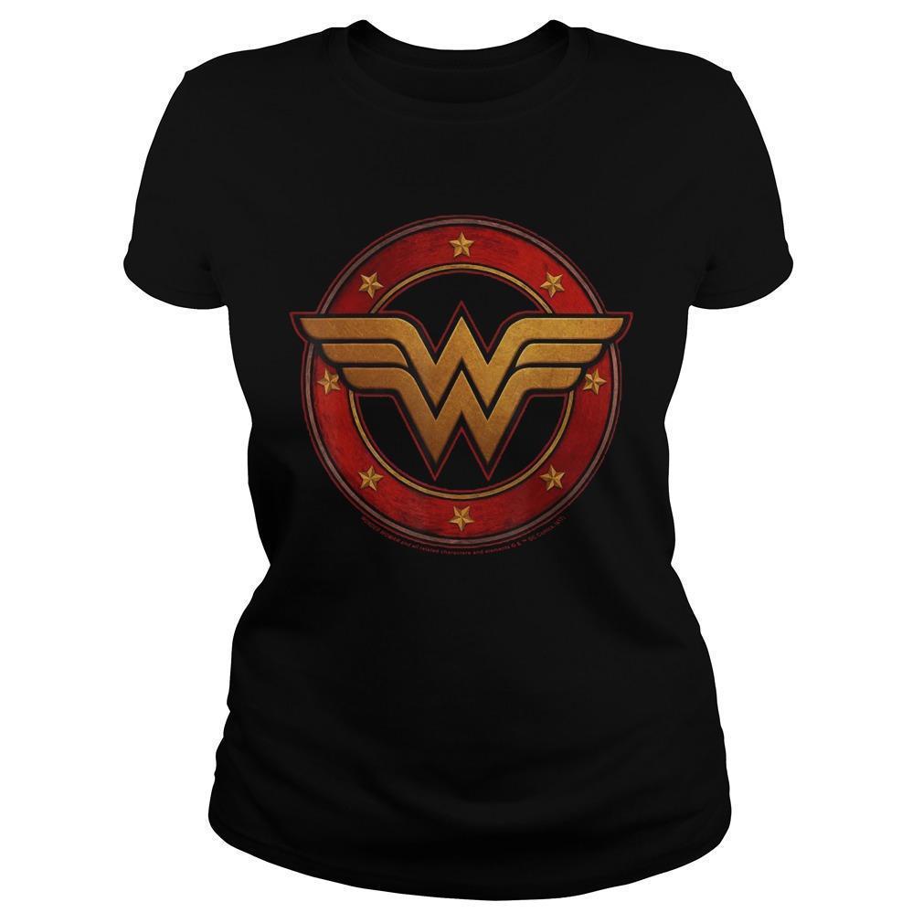 Dc Fandom Metal Logo Wonder Woman T Longsleeve