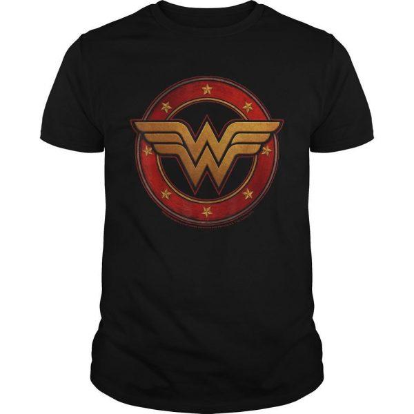 Dc Fandom Metal Logo Wonder Woman T Shirt