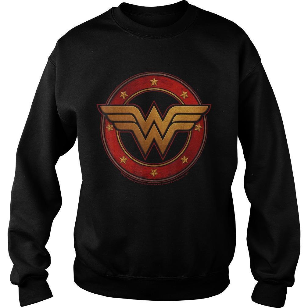 Dc Fandom Metal Logo Wonder Woman T Sweater