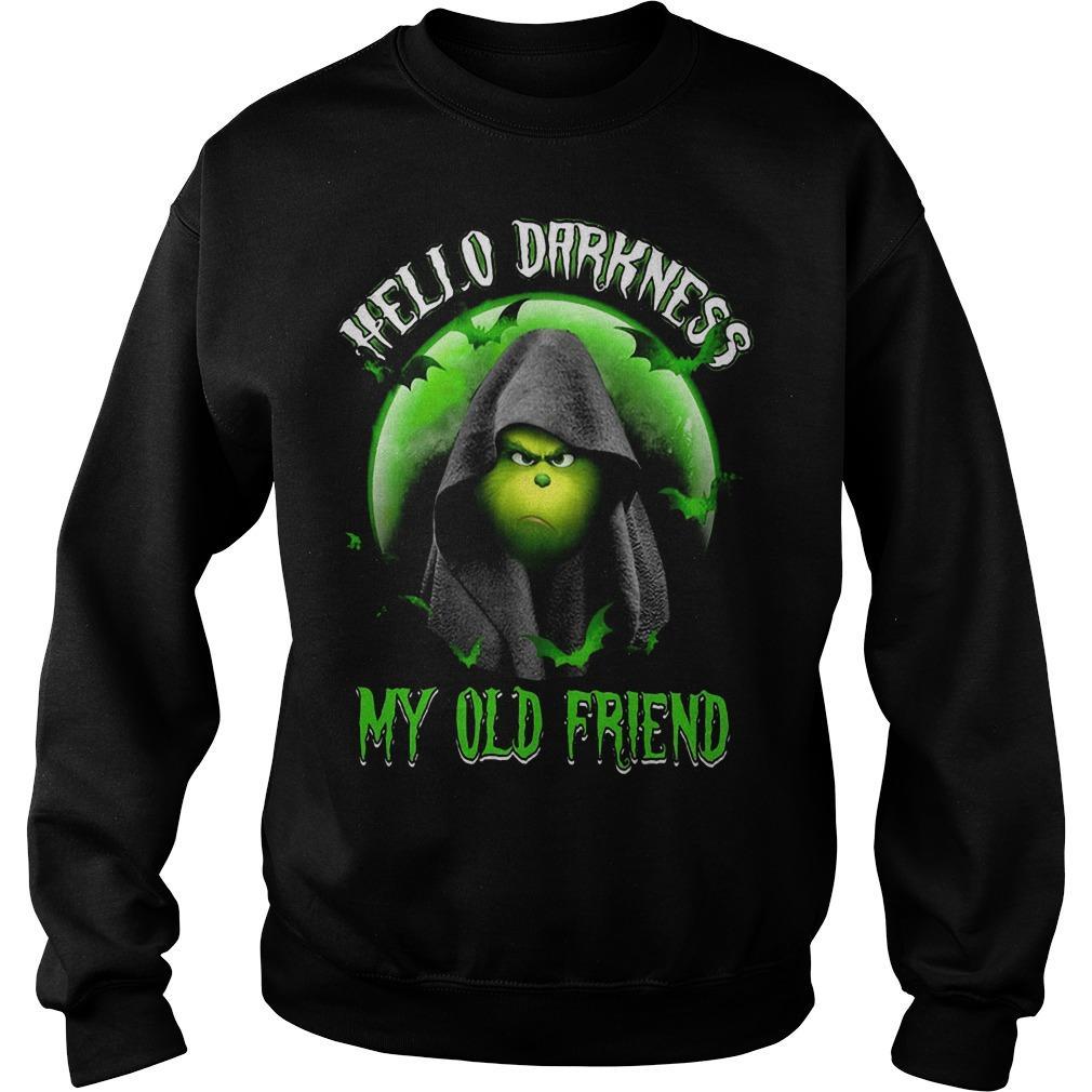 Grinch Hello Darkness My Old Friend Sweater