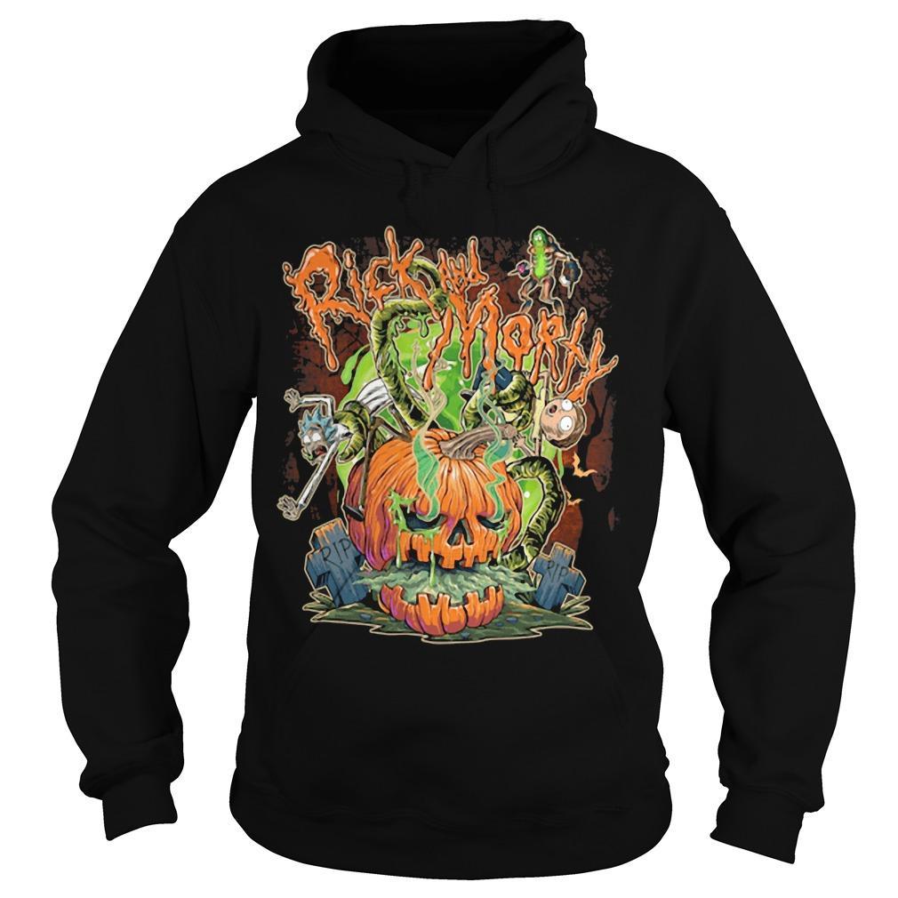 Halloween Pumpkin Rick And Morty Hoodie