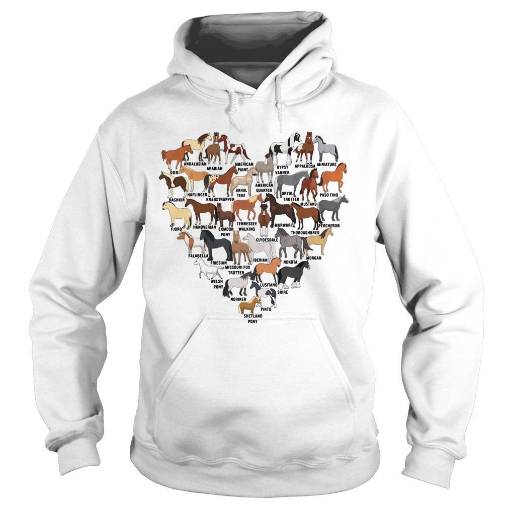 Heart Love Horse Hoodie