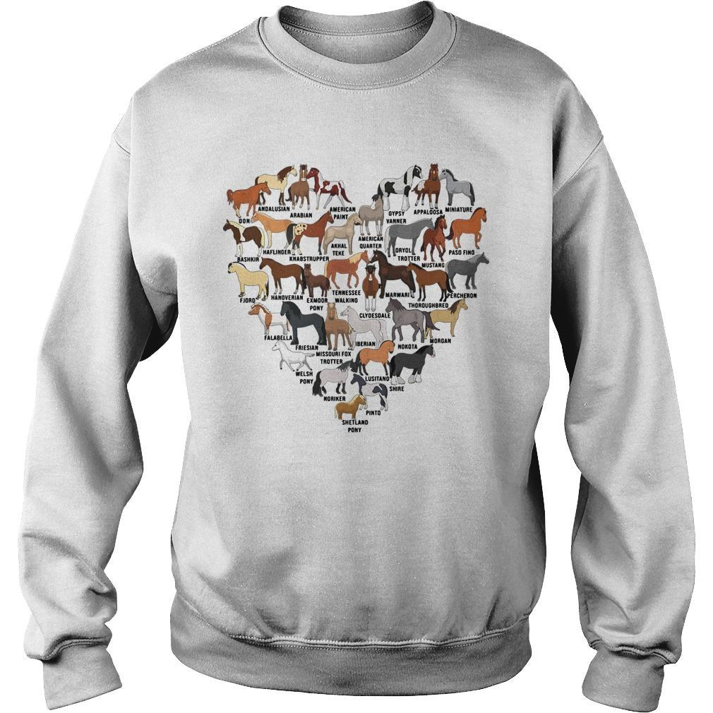 Heart Love Horse Sweater