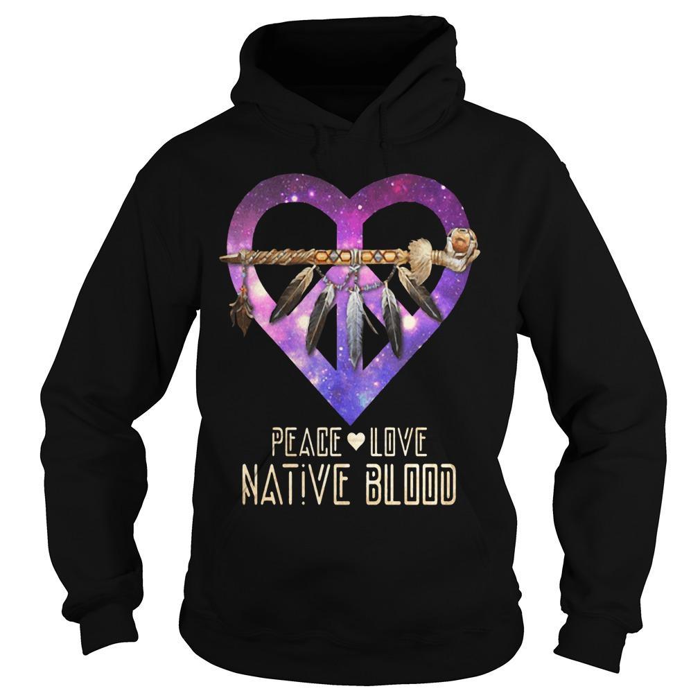 Heart Peace Love Native Blood Hoodie