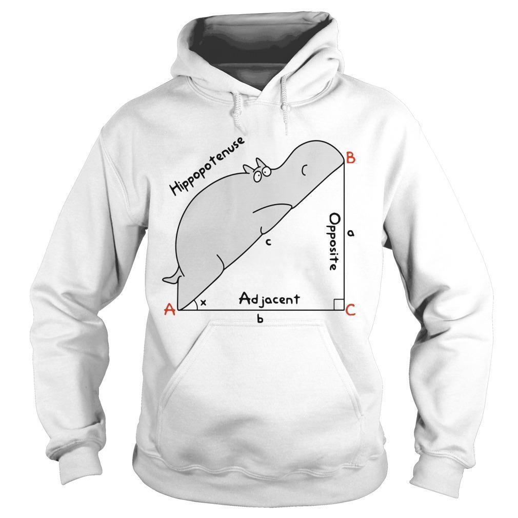 Hippopotenuse Adjacent Opposite Hoodie
