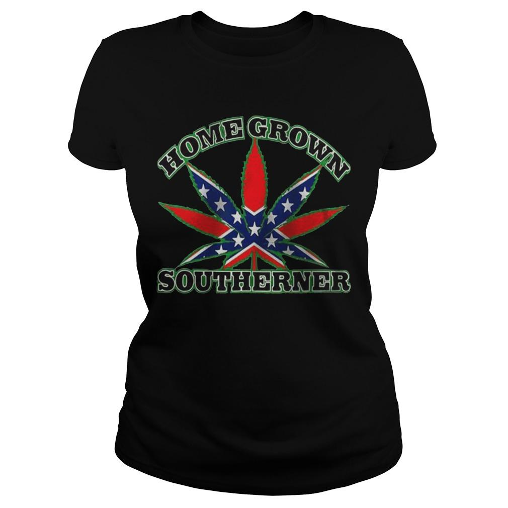 Rebel Flag Weed Homegrown Southerner Longsleeve