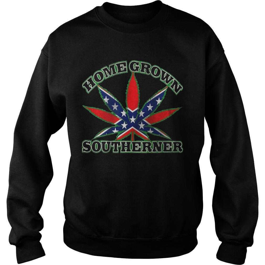 Rebel Flag Weed Homegrown Southerner Sweater