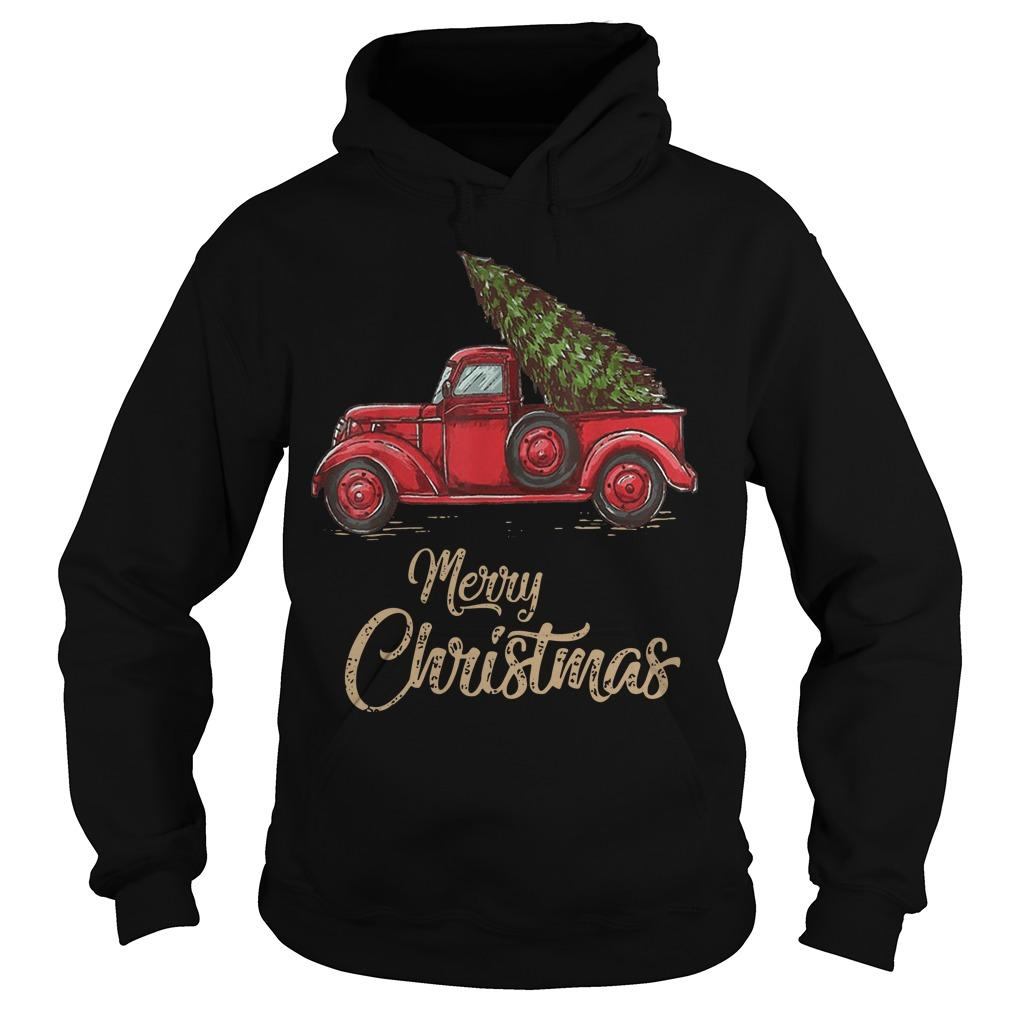 Red Truck Merry Christmas Hoodie