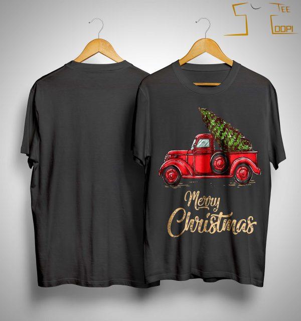 Red Truck Merry Christmas Shirt