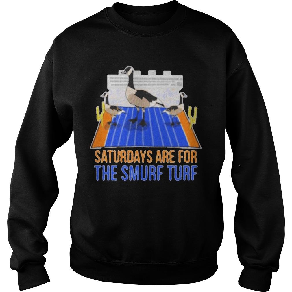Saturdays Are For The Smurf Turf Sweater