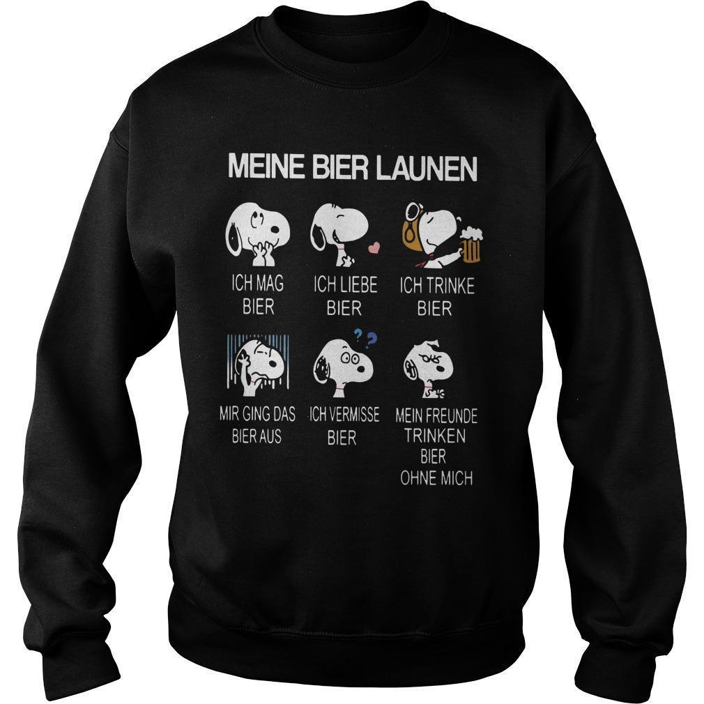 Snoopy Meine Bier Launen Ich Mag Bier Ich Liebe Bier Sweater