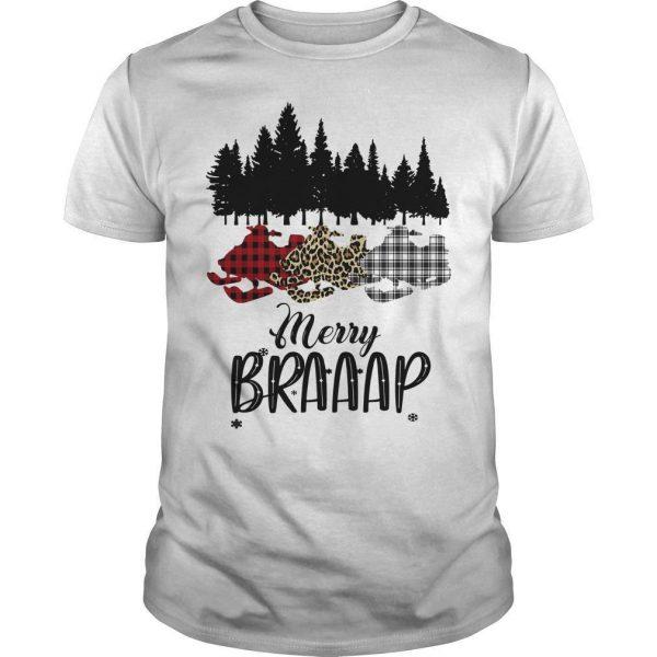Snowmobile Merry Braaap Shirt