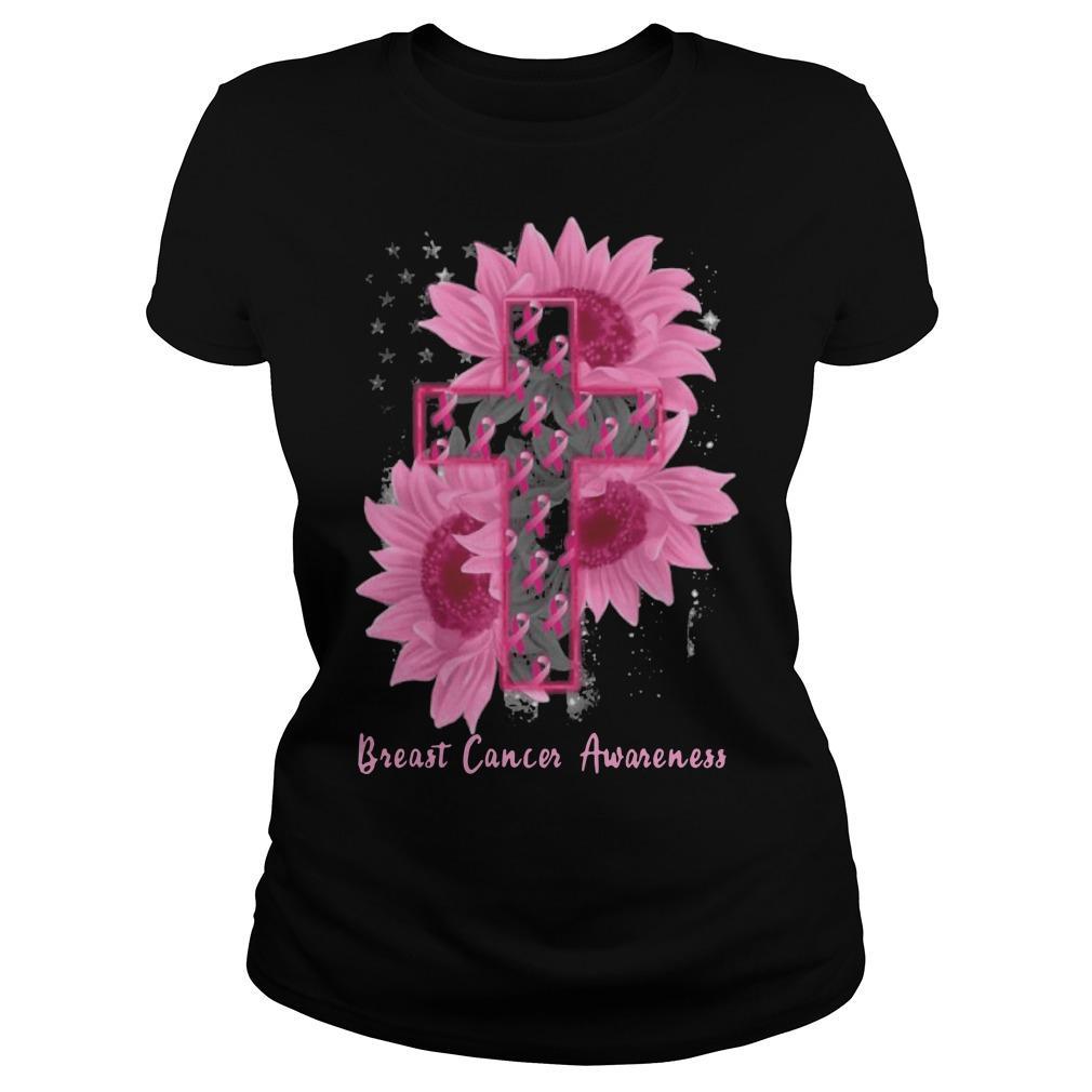 Sunflower Breast Cancer Awareness Longsleeve