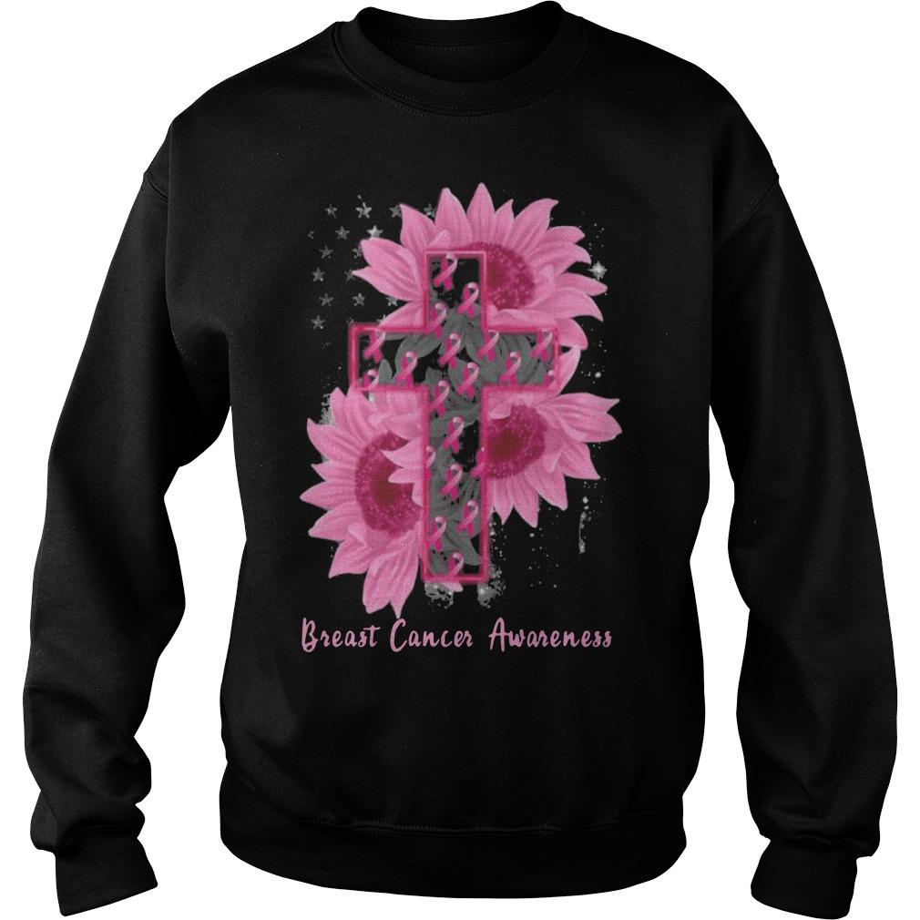 Sunflower Breast Cancer Awareness Sweater